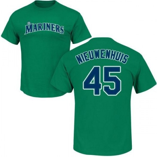 Kirk Nieuwenhuis Seattle Mariners Men's Green Roster Name & Number T-Shirt -