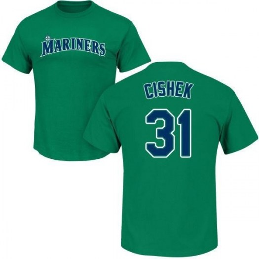 Steve Cishek Seattle Mariners Youth Green Roster Name & Number T-Shirt -