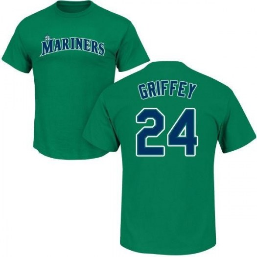 Ken Griffey Seattle Mariners Youth Green Roster Name & Number T-Shirt -